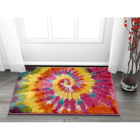Tie Dye Retro Rainbow Trippy Multi Hippie Red Orange