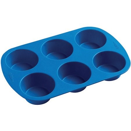 Wilton Easy Flex Silicone Muffin Pan, 6 cavity