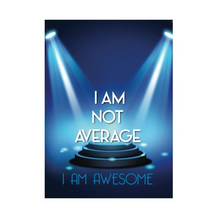 Stage Lights Spot Light Picture I Am Not Average I Am Awesome Inspirational Motivational Poster (Awesome Picture Of Cars)