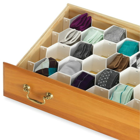 Whitmor Honeycomb Drawer Organizer White ()