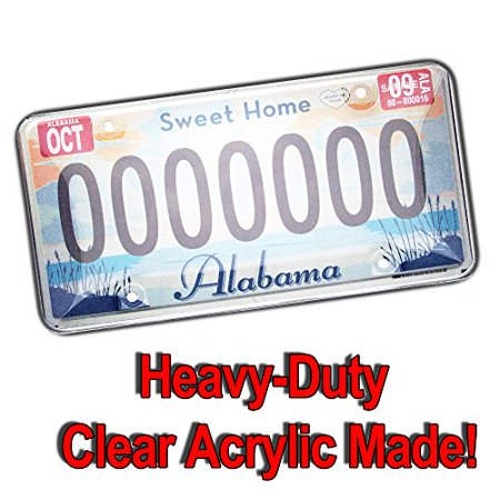 Zento Deals 2 Pieces of Heavy-Duty Clear Bubble Design Unbreakable License Plate Shield Covers-Fits All Standard 6x12 Inches Novelty/License Plates