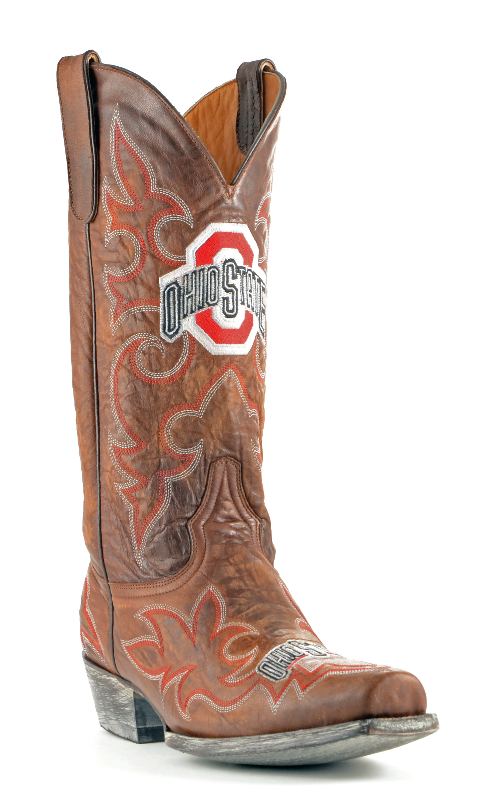 Gameday Boots Mens Leather Ohio State Cowboy Boots by GameDay Boots