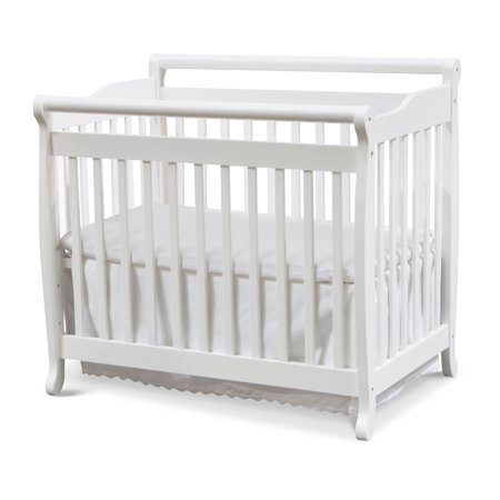 DaVinci Emily 2-in-1 Mini Crib and Twin Bed in White Finish Da Vinci Emily Baby Furniture