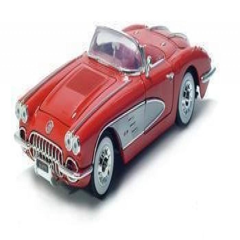 1958 Chevrolet Corvette Diecast Model Red 1:18 Die Cast Car
