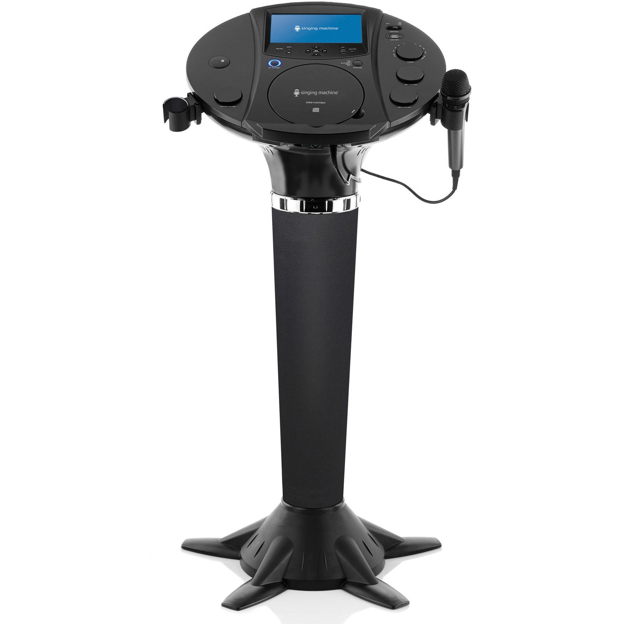 Singing Machine ISM1020BT Bluetooth Pedestal Karaoke by The Singing Machine