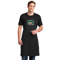 LARGE Ohio Bobcats Mens Apron or Womens Ohio University Aprons Barbecue Tailgating Kitchen or Grilling Extra Long