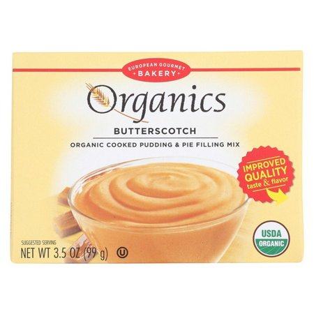 European Gourmet Bakery Organic Butterscotch Pudding Mix - Butterscotch - Pack of 12 - 3.5 Oz.