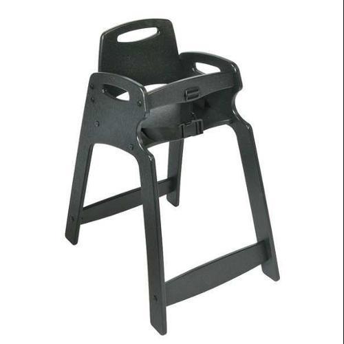 KOALA KARE PRODUCTS KB833-02 Eco High Chair, Assembled, Black G4384554