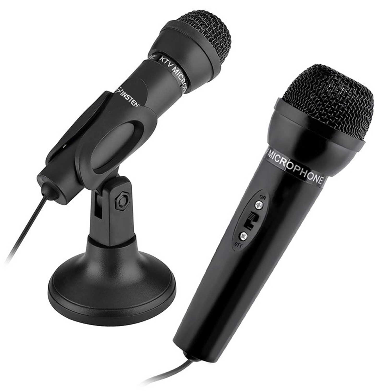 Insten New 3.5mm Audio Plug Mic Stand Microphone Studio for PC Laptop Notebook Skype Meeting Speech
