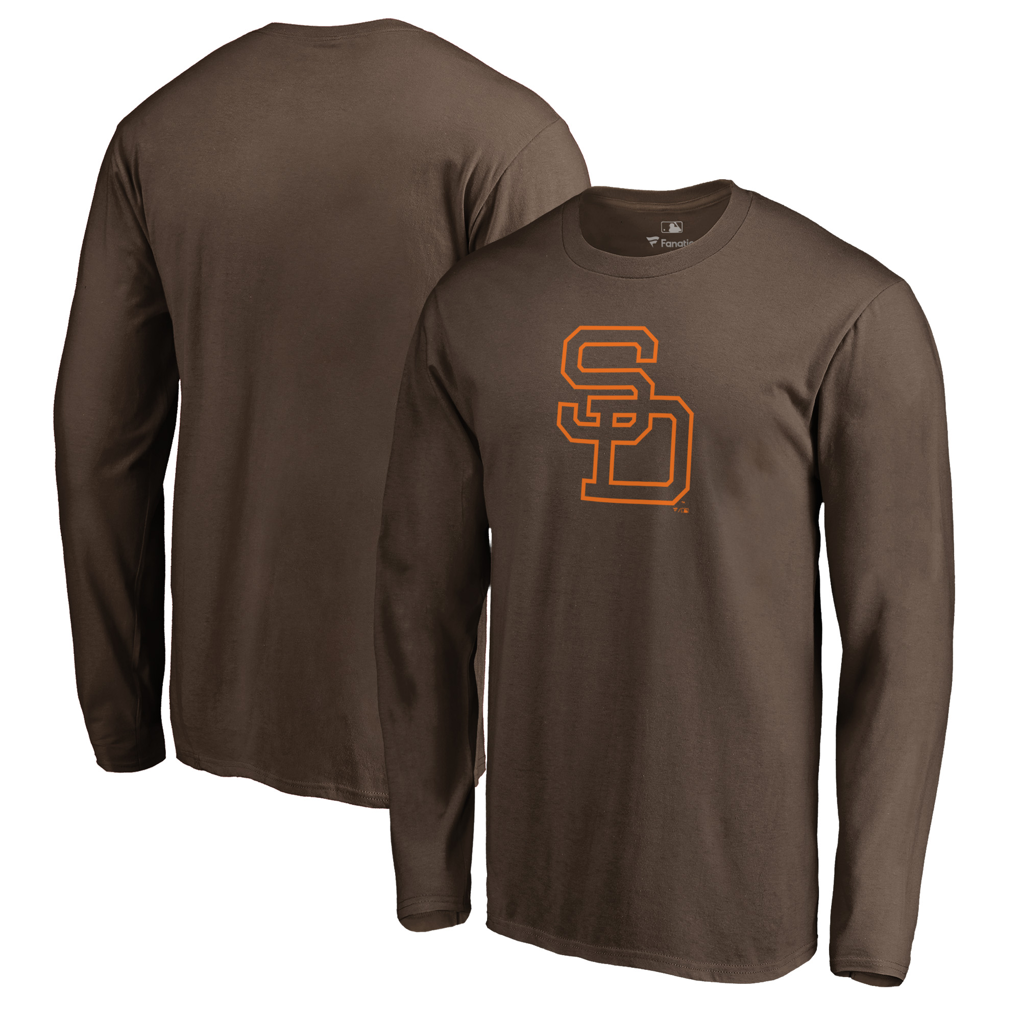 San Diego Padres Fanatics Branded Cooperstown Collection Huntington Long Sleeve T-Shirt - Brown