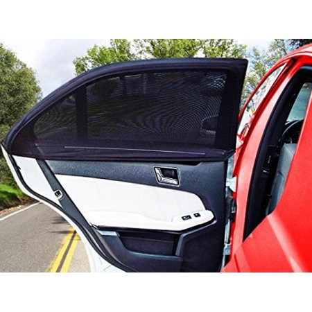 Zento Deals Universal Fit Slip On Stretchable Mesh Protective Side Window Car Sunshade 2 Pack