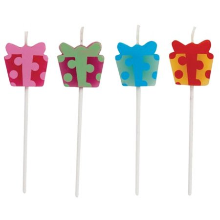 Club Pack of 48 Multi-Color Birthday Present Decorative Cupcake Pick Party Candles 3.25