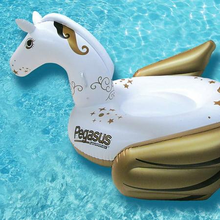 Swimline Giant Inflatable Pegasus Ride-On Swimming Pool Lake Float (2 Pack) - image 1 de 6
