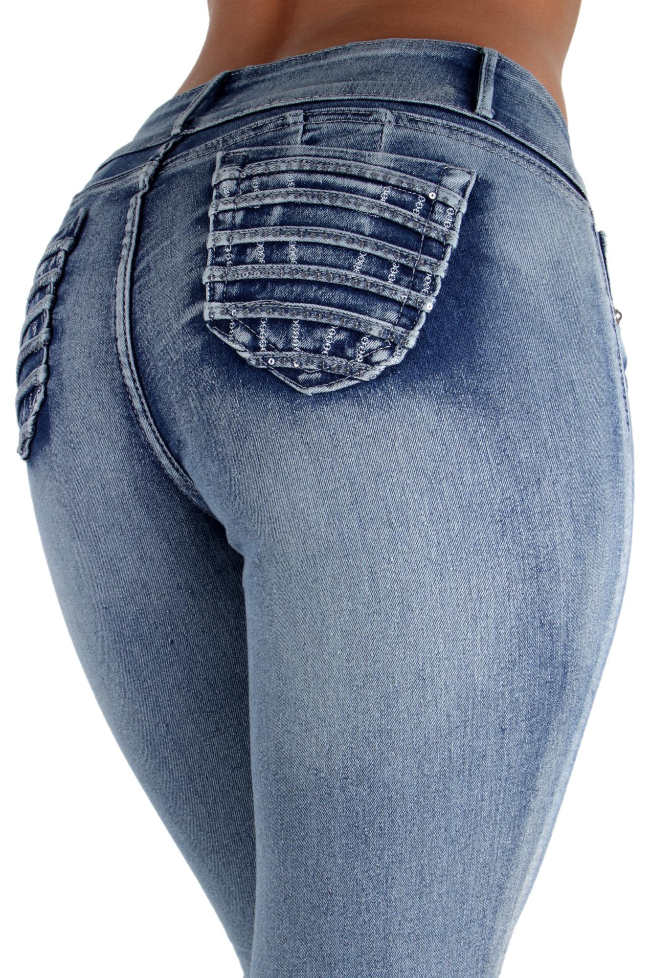 G384P - Plus Size, Butt Lifting, Levanta Cola, Mid Waist, Sexy Skinny Jeans