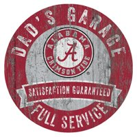 "Alabama Crimson Tide 12"" x 12"" Dad's Garage Sign"