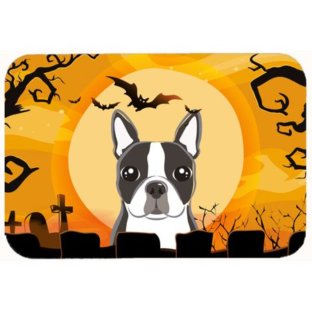 Caroline's Treasures Halloween Boston Terrier Kitchen/Bath Mat (The W Hotel Boston Halloween)