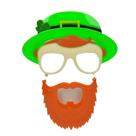 Sun Staches Green Hat St Patricks Day Pattys Lucky Irish Mustache Glasses Clear