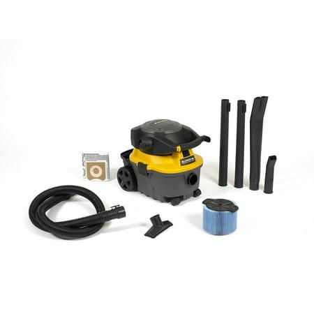 WORKSHOP  WS0400DE 4 gal. 6.0 Peak HP Portable Wet/ Dry Vac and Blower - Black (Wet Vac And Blower)