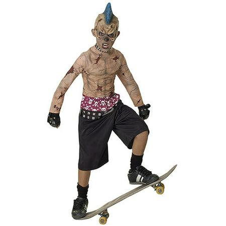 Zombie Skate Punk Child Halloween Costume (Pregnant Zombie Baby Halloween Costume)
