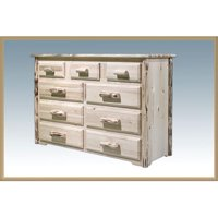 Dresser with 9 Drawer - Clear Lacquer
