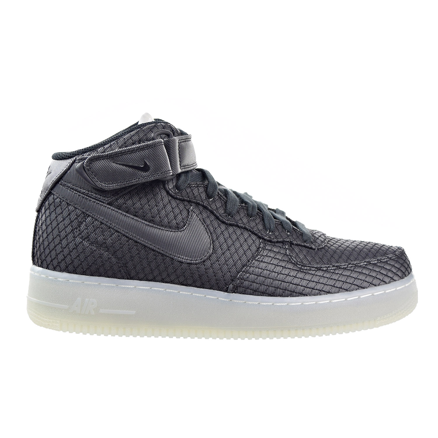 Nike Air Force 1 07 Mid LV8 Men's Shoe Black/White/Metall...