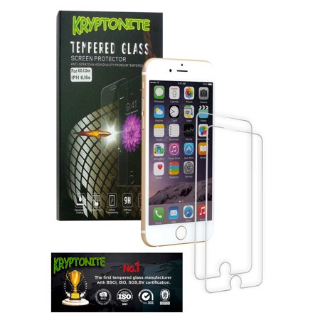 184fc514393 2x Pack KRYPTONITE Protectores de Pantalla de Vidrio Templado para iPhone 6/ 6S