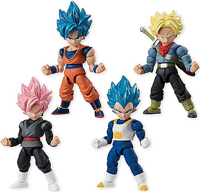 Dragon Ball Z 66 Action Trunks, Goku, Vegeta & Goku Black Set of 4 Action Figures by