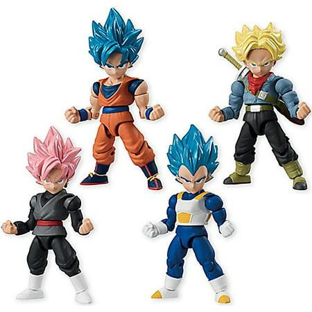 Dragon Ball Z 66 Action Trunks, Goku, Vegeta & Goku Black Set of 4 Action -