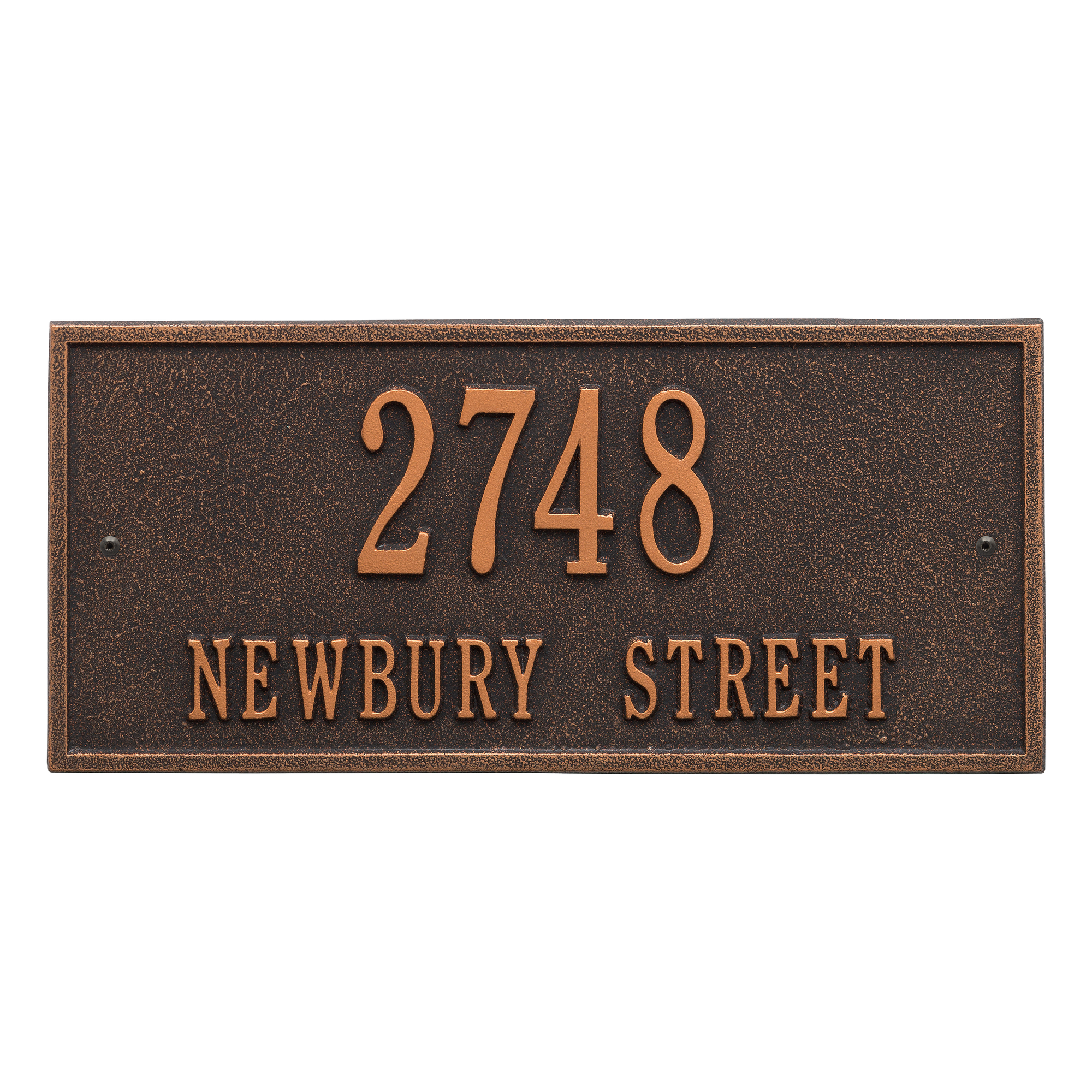 Personalized Whitehall Product Hartford 2-Line Wall Plaque in Bronze