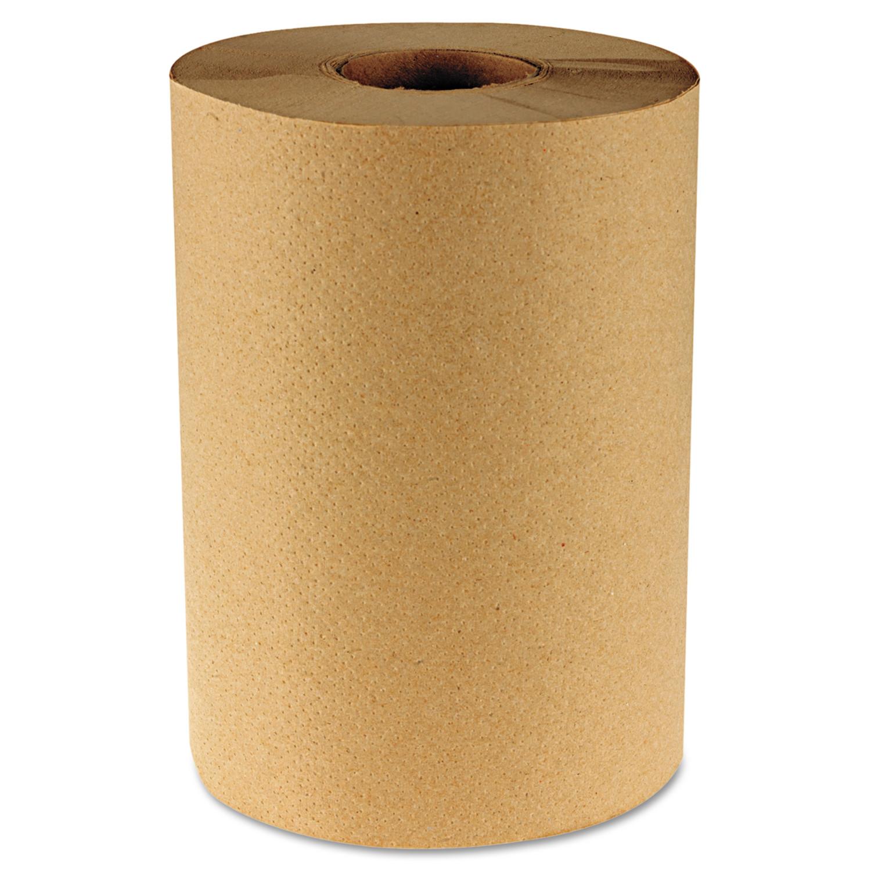 "Boardwalk Hardwound Paper Towels, 8"" x 350ft, 1-Ply, 12 Rolls/Case"
