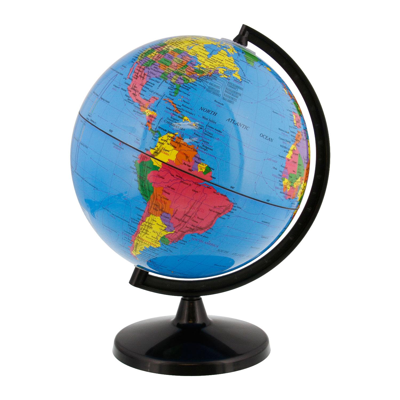 "8"" Inch (20cm) Blue Ocean Rotating Desktop World Earth Globe"