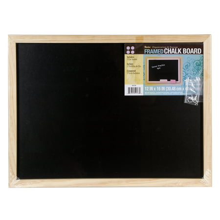 Darice Black Chalkboard with Unfinished Wood Frame - Diy Chalk Board