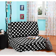 Your Zone Black/white Dots Flip Chair