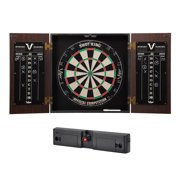 Viper Stadium Dartboard Cabinet with Shot King Sisal Dartboard Viper Laser Throw/Toe Line Marker (Steel and Soft Tip Darts)