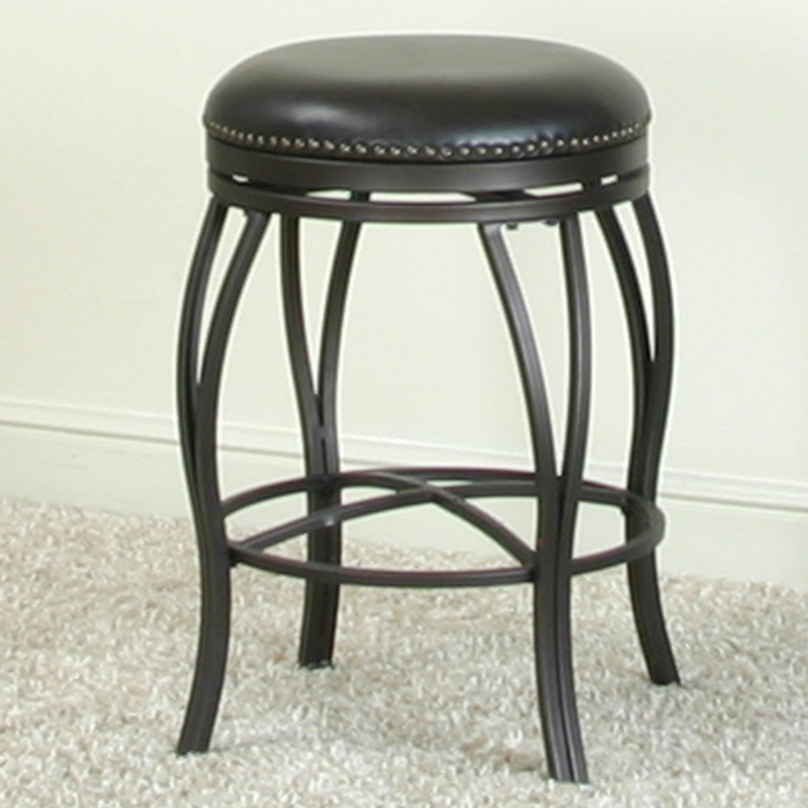 Sunset Trading Victoria 24 in. Backless Swivel Counter Stool