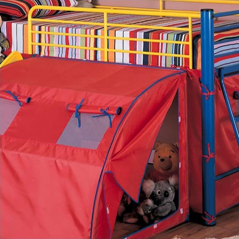 twin loft bed slide tent canopy curtain kids bedroom set bunkbed playhouse play 21037239003 ebay. Black Bedroom Furniture Sets. Home Design Ideas