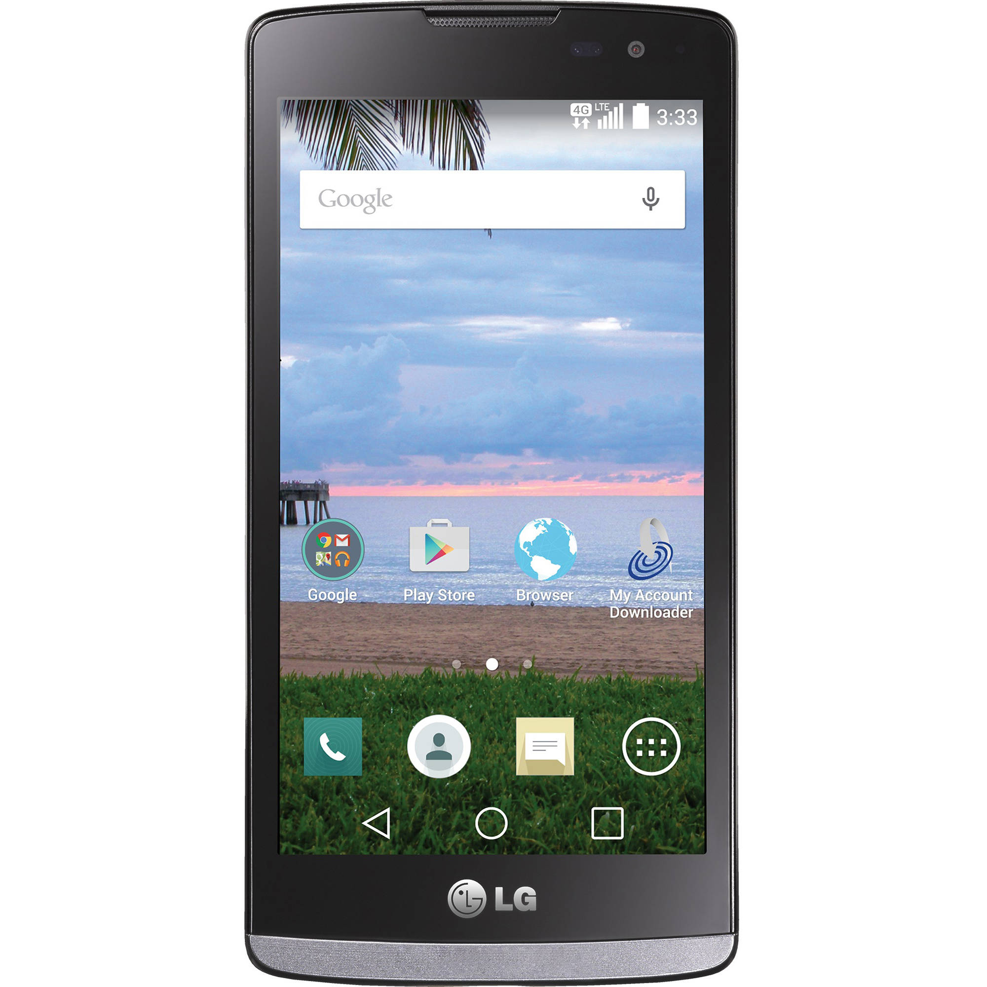 Straight Talk LG Prepaid L33L Sunset LTE Smartphone
