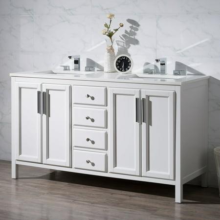 59 bathroom vanity double sink. Stufurhome Emily 59 In  Double Sink Bathroom Vanity Walmart Com