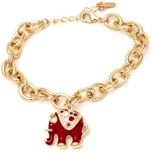 peermont jewelry gold plated elephant charm bangle