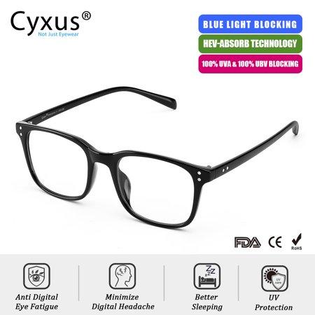 Cyxus Matte Green Blue Light Blocking Computer Gaming Glasses for Reduce Eyestrain UV, Gift for (Mens Computer Glasses)