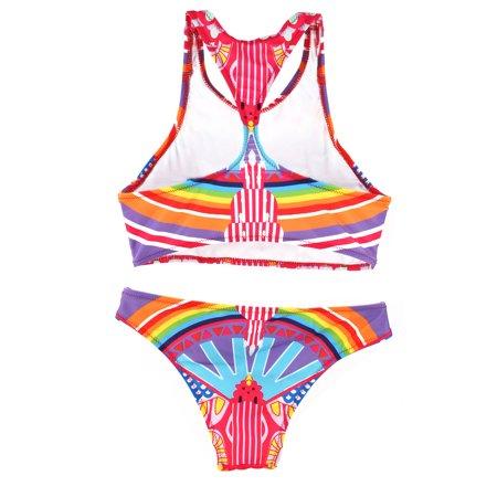 Lady Bra Two-Piece Beachwear Swimming Suit Swimwear Underwaist Women Bikini L - image 4 of 5