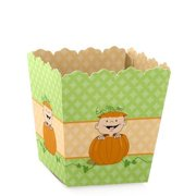 Little Pumpkin Caucasian - Party Mini Favor Boxes - Baby Shower or 1st Birthday Party Treat Candy Boxes - Set of 12