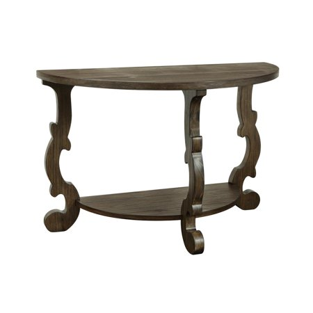 Orchard Park Demilune Console Table, Orchard Brown