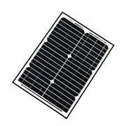 ALEKO Solar Panel Monocrystalline 20W for any DC 12V Application
