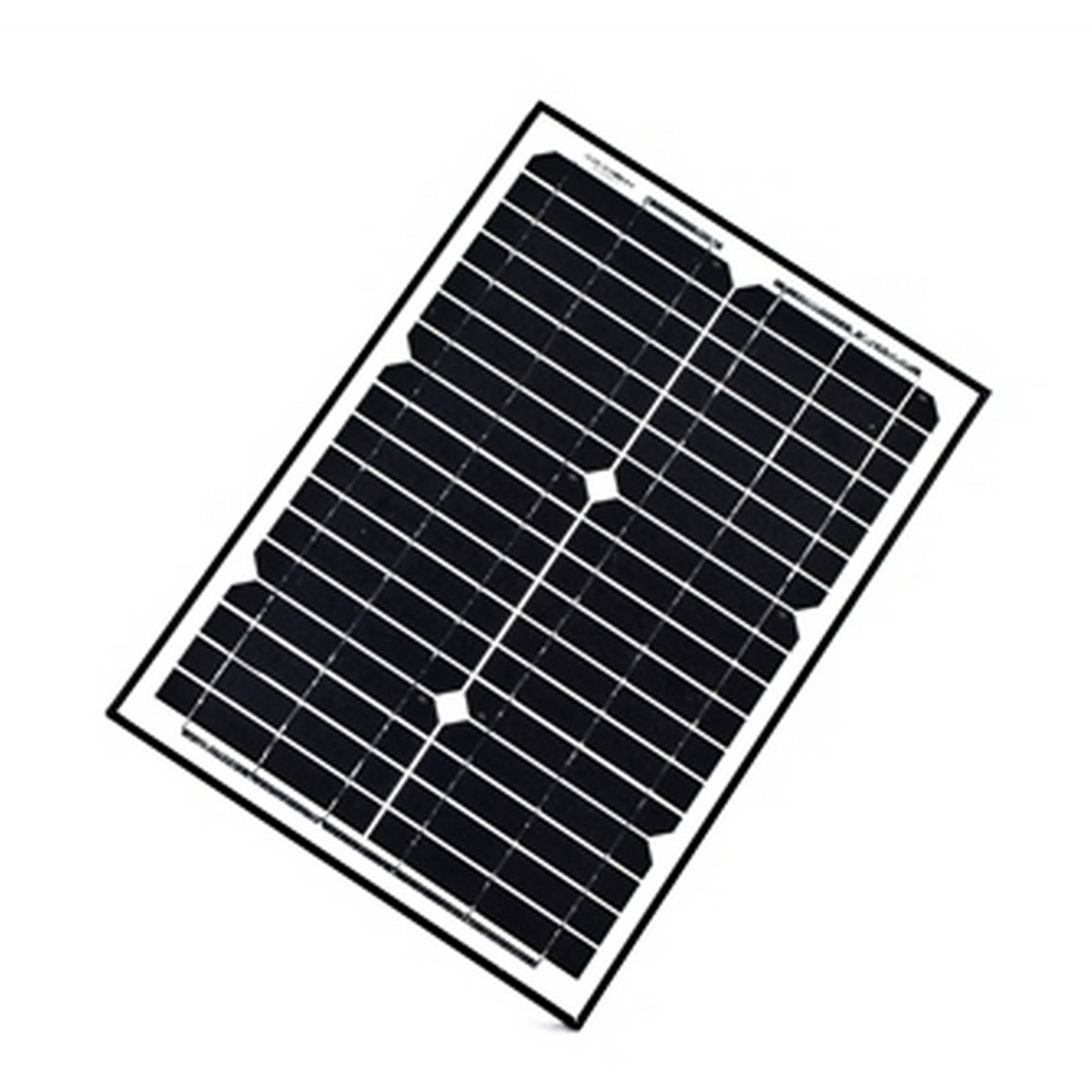ALEKO Solar Panel Monocrystalline 20W for any DC 12V Application