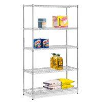 Honey Can Do 5-Shelf Steel Storage Shelving Unit, Chrome