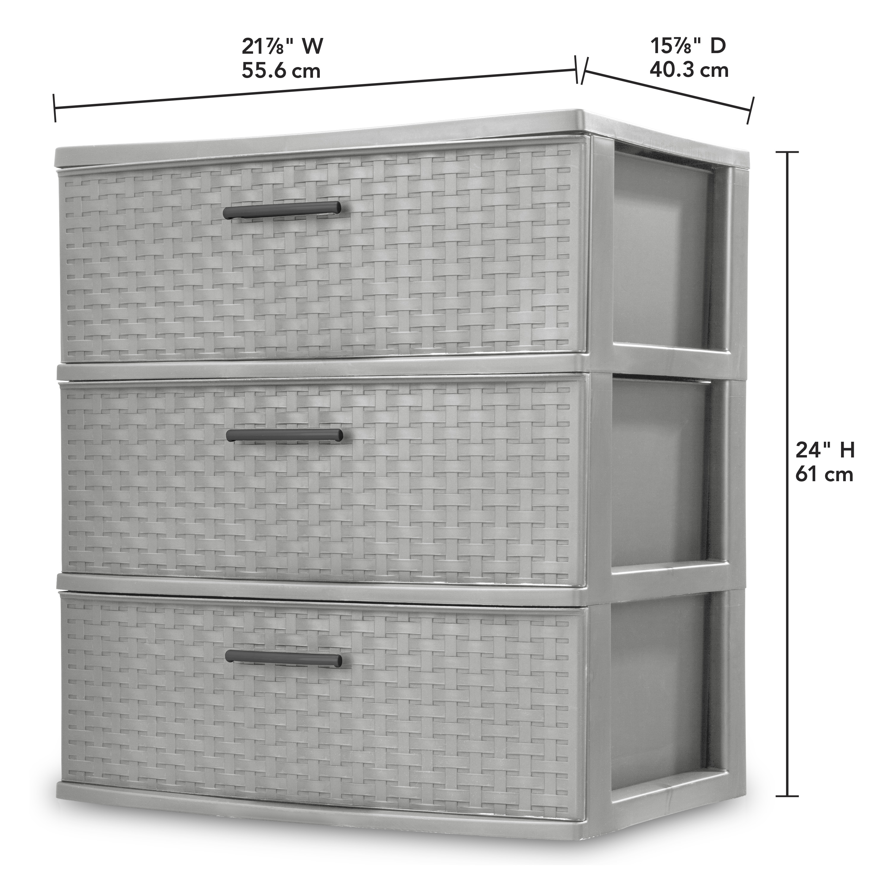 67f347101d86 Sterilite, 3 Drawer Wide Weave Tower, Espresso