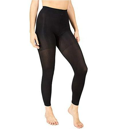 Marilyn Monroe Womens Ladies 2Pack Control Top Footless Opaque Tights Black/Black S/M