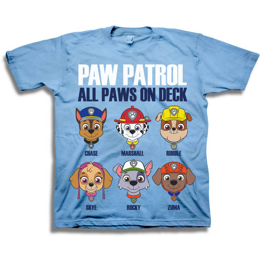 Nickelodeon Paw Patrol All Paws on Deck Toddler Boy Short Sleeve T-Shirt