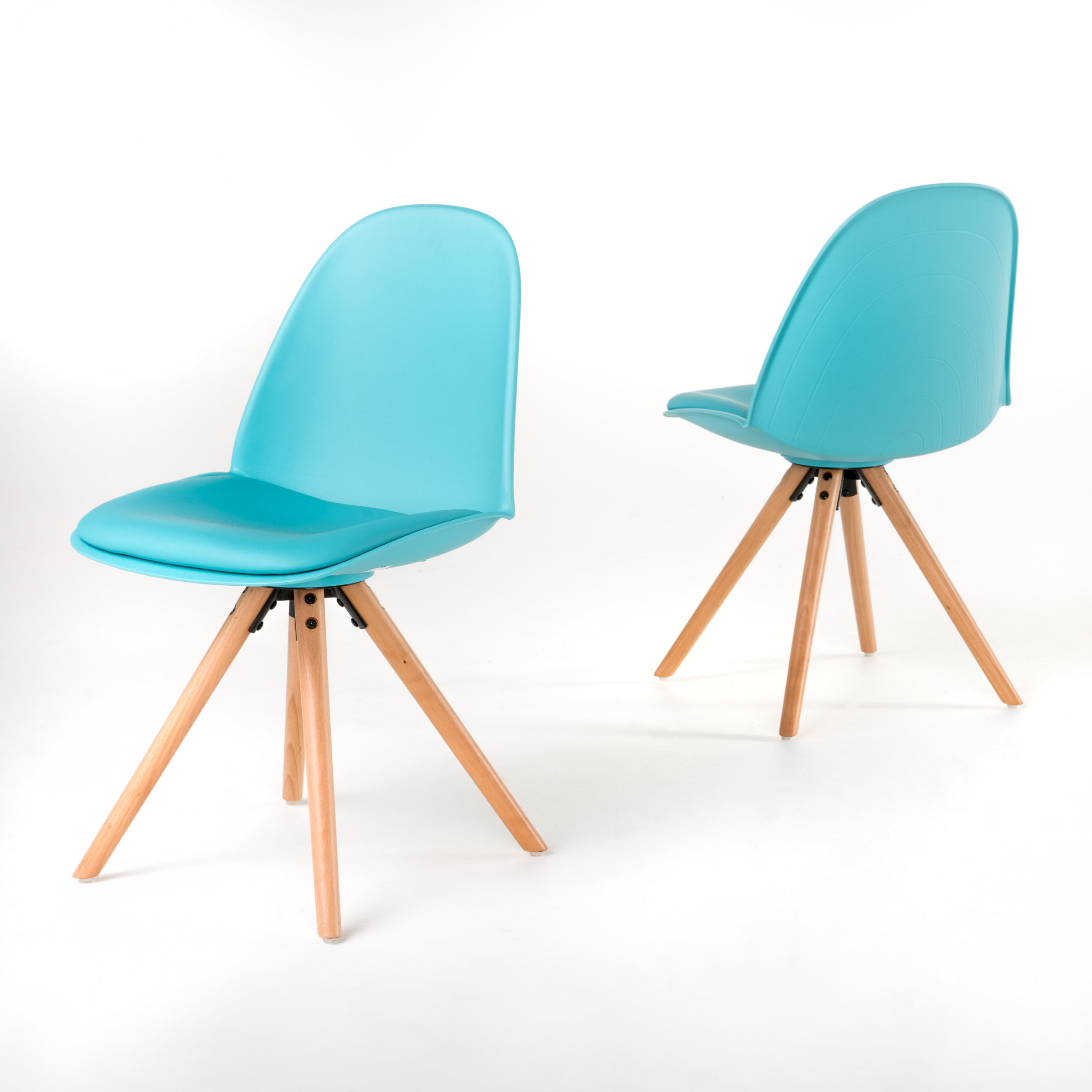 Quilla Dining Chairs, Set of 2, Light Blue